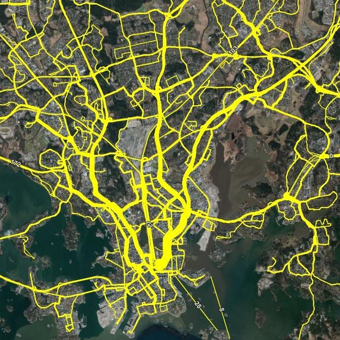 Kartta Paljastaa Alueet Joilla Bussi Kulkee Harvoin Sovellukset