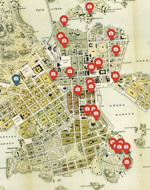 Kartta Helsingin Nahtavyydet Kartta