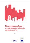 Kuutoskaupunkien suositukset avoimista rajapinnoista -esitteen kansikuva.