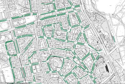Etelä-Helsingin pysäköintipaikkoja