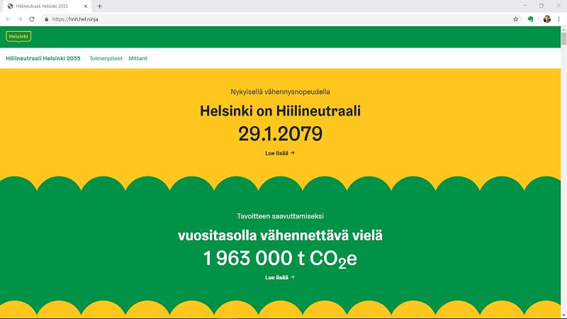 Hiilineutraali Helsinki 2035 -laskurin demoversio