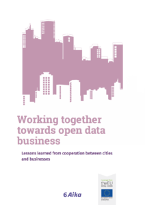 Cover of Working Together Towards Open Data Business brochure.