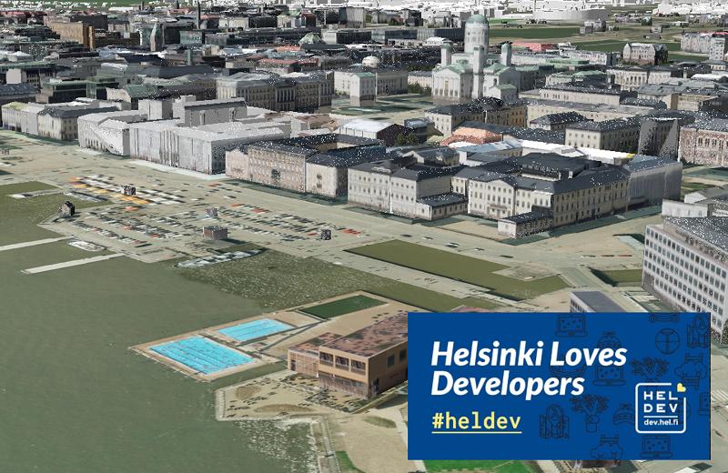 Kuvituskuva Helsinki Loves Developers -tapahtumaan liittyen.